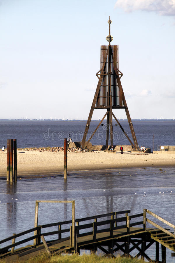 La borne limite de Cuxhaven images libres de droits