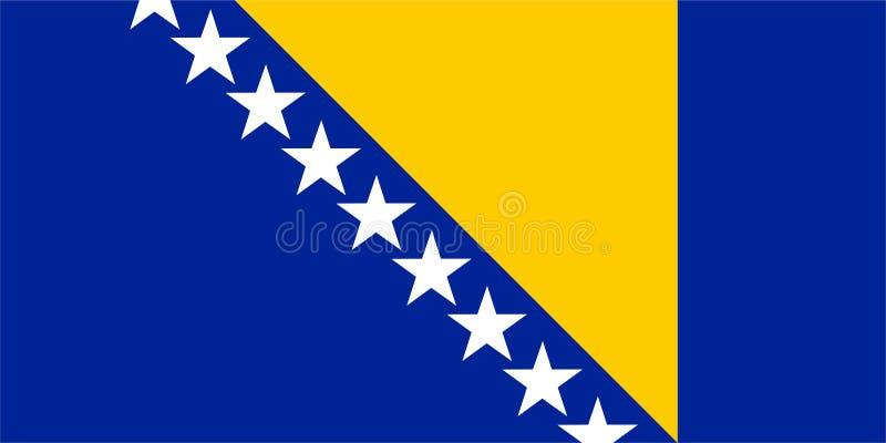 La Bosnia-Erzegovina diminuisce illustrazione vettoriale