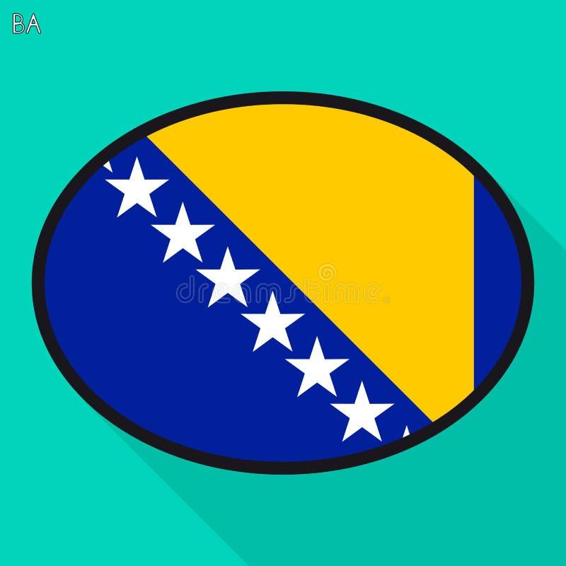 La Bosnie, Herzégovine, bulle de la parole de drapeau, communicat social de media illustration stock