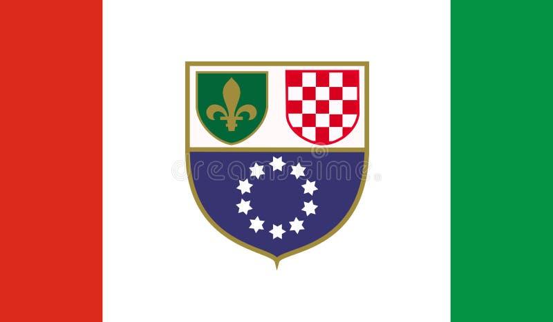 La Bosnie-Herzégovine, fédération de drapeau illustration de vecteur