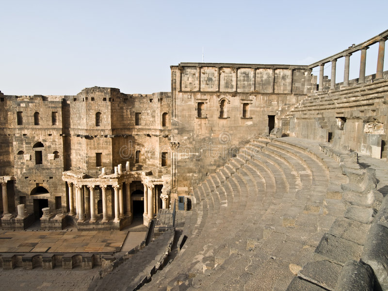 La Bosra-Syrie images stock