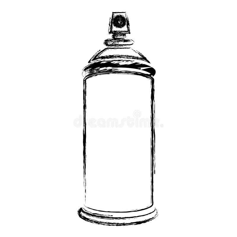 la botella borrosa del espray de aerosol de la silueta puede icono libre illustration