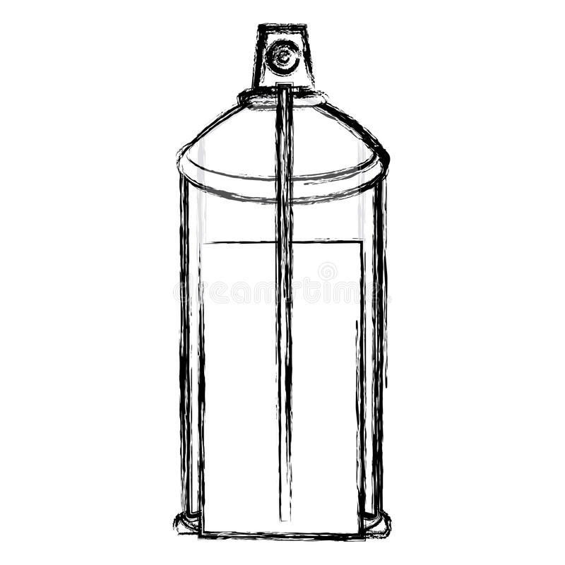 la botella interna borrosa del espray de aerosol de la opinión del contorno puede icono ilustración del vector