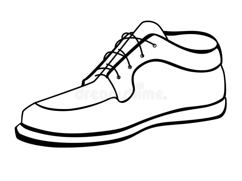 La botte d'un homme Chaussures mâles Mocassins pour les hommes illustration stock