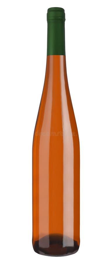 La bottiglia di champagne ha isolato immagini stock libere da diritti