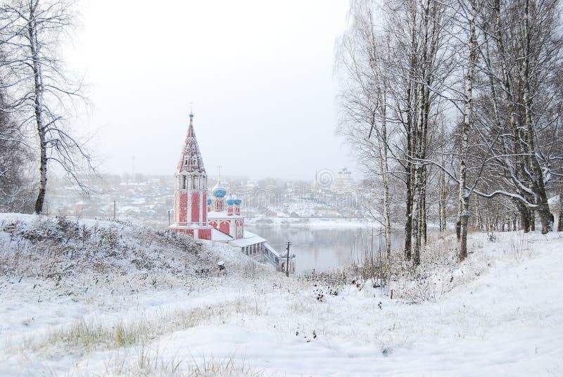 La boucle d'or de la Russie Oblast Tutaev de Yaroslavl Église de Kazan de la transfiguration photo stock