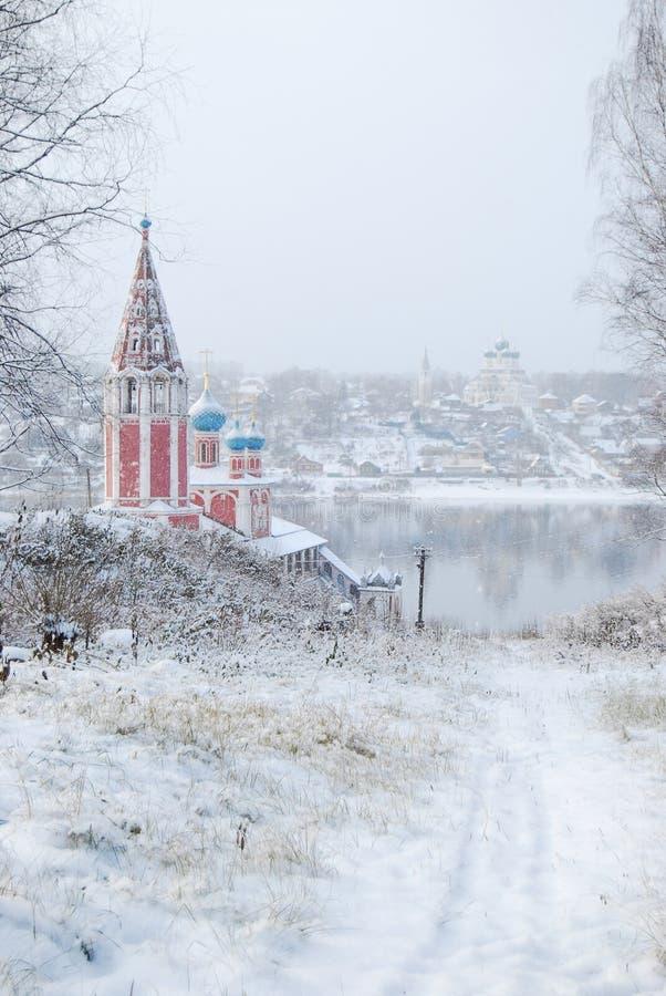 La boucle d'or de la Russie Oblast Tutaev de Yaroslavl Église de Kazan de la transfiguration photo libre de droits