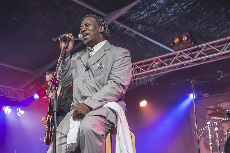 La boue Morganfield chante les bleus photos libres de droits