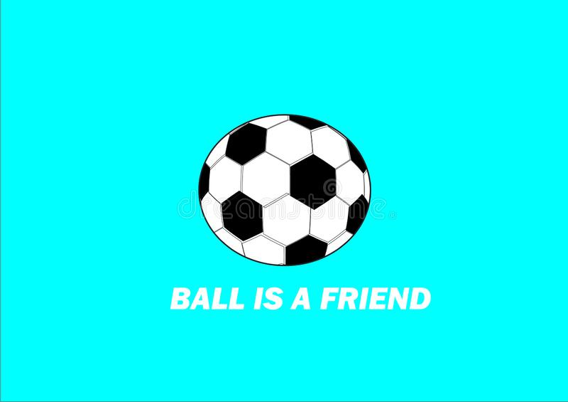La boule est mon ami vrai illustration stock