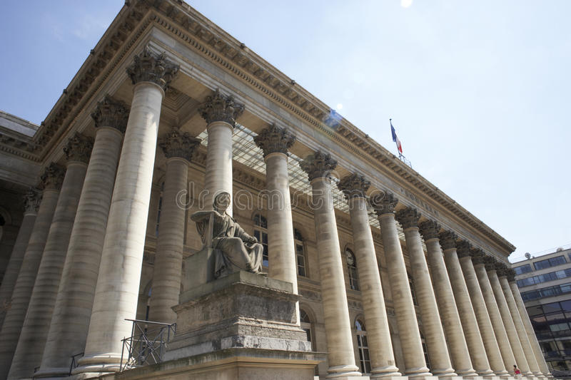 La Bourse, Paris Stock Exchange stock photography