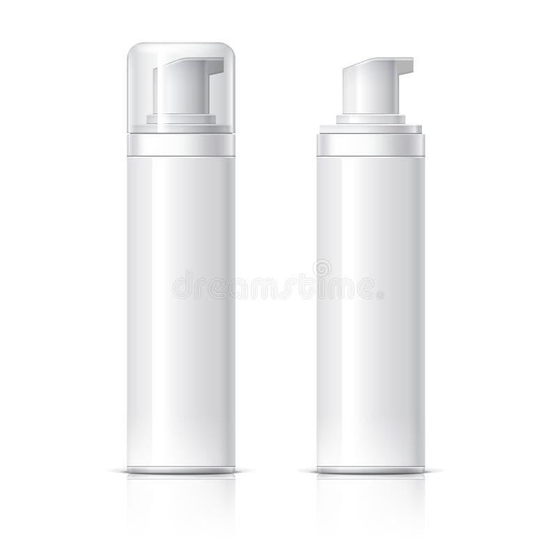 La bouteille cosmétique réaliste peut récipient de pulvérisateur illustration stock