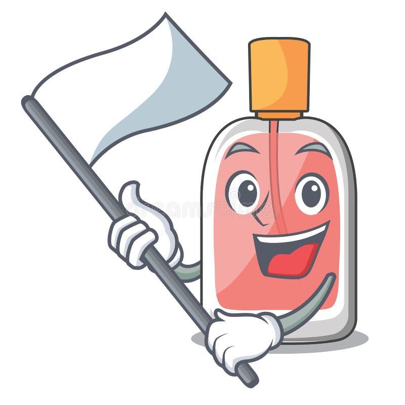La bouteille de parfum de drapeau étant isolé dans la mascotte illustration libre de droits