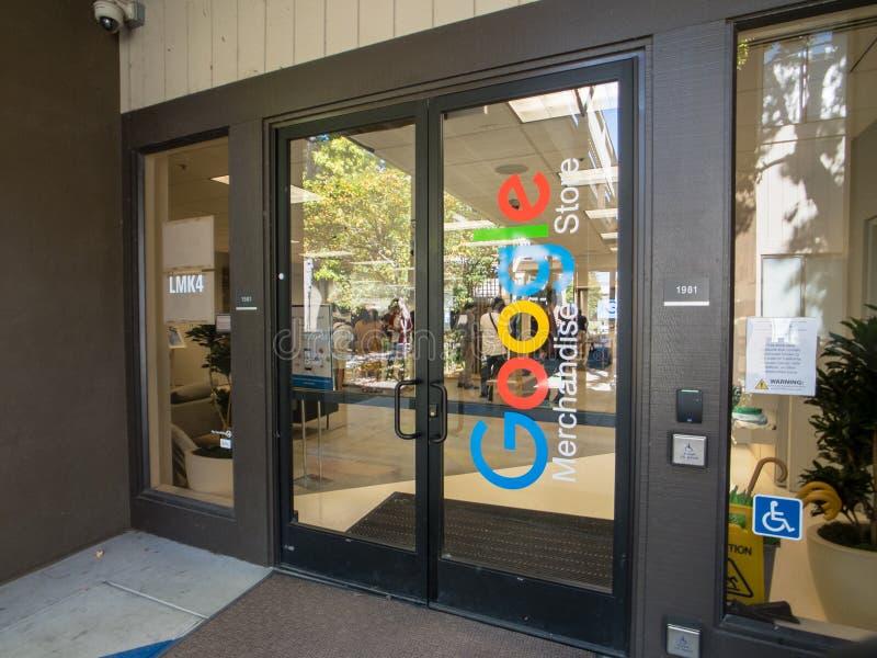 La boutique de cadeaux de Google à Googleplex siège le bureau principal photo libre de droits