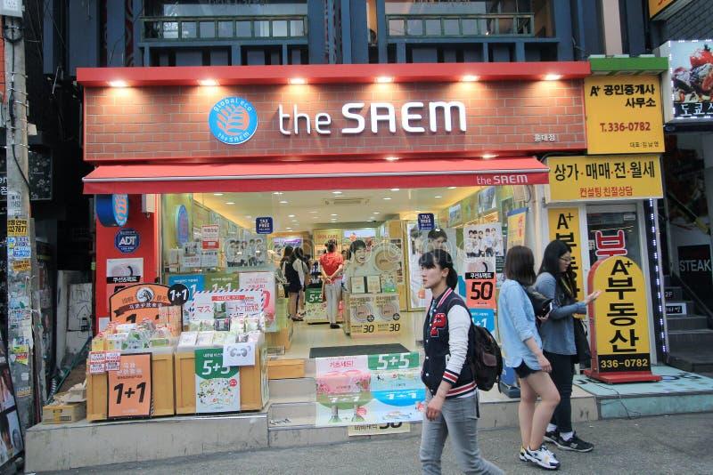La boutique de saem à Séoul photographie stock