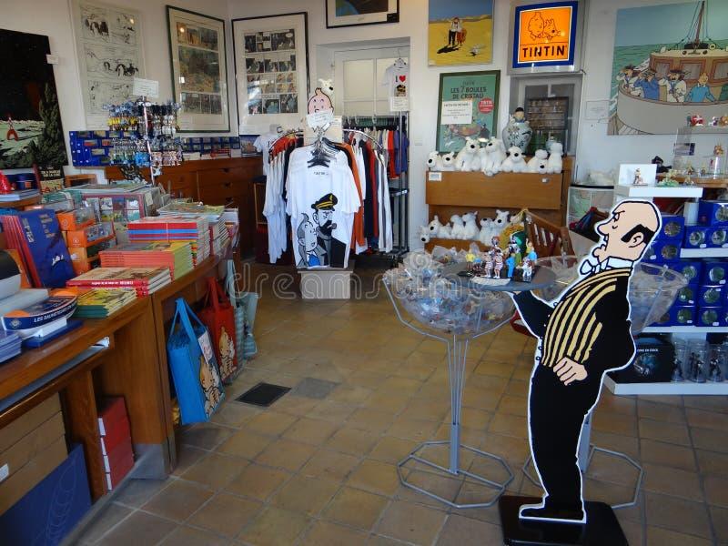 La boutique de Tintin photos libres de droits
