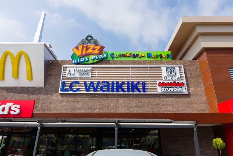 La boutique LC Waikiki photographie stock libre de droits