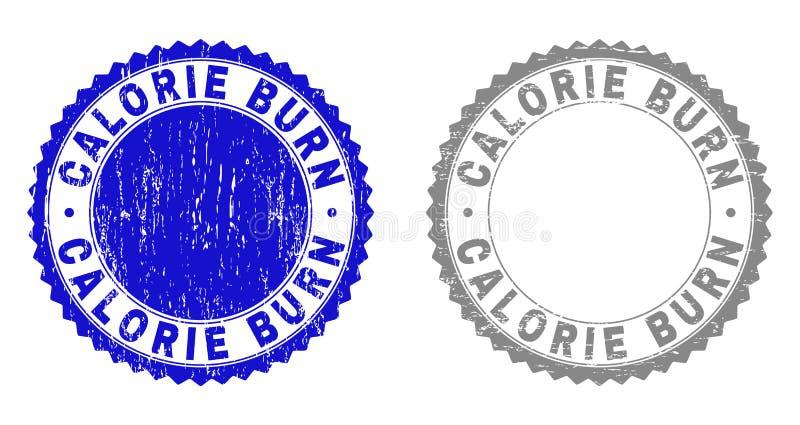 La BRÛLURE de CALORIE grunge a donné à des joints une consistance rugueuse de timbre illustration libre de droits