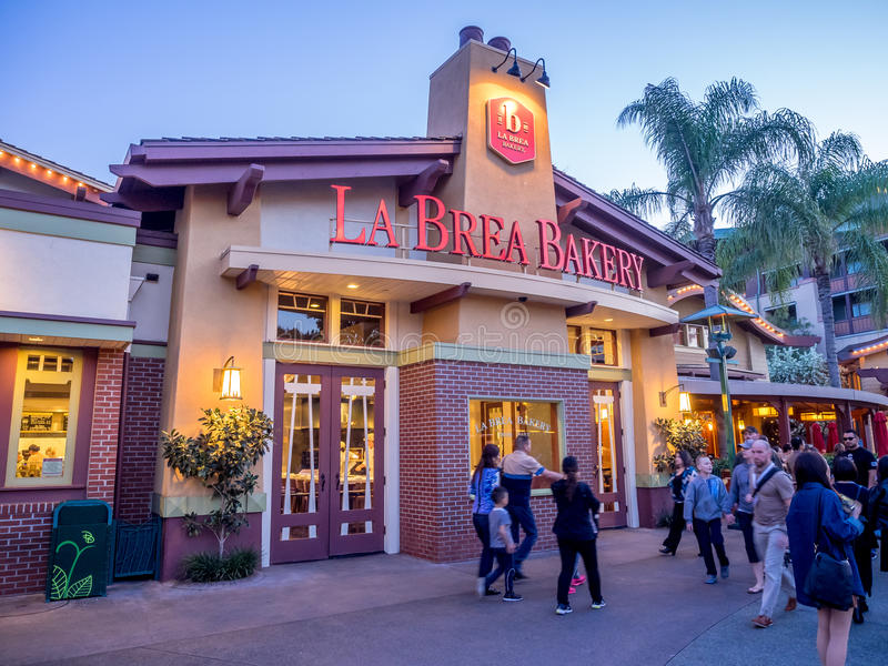 La Brea Bakery store at Downtown Disney stock photos