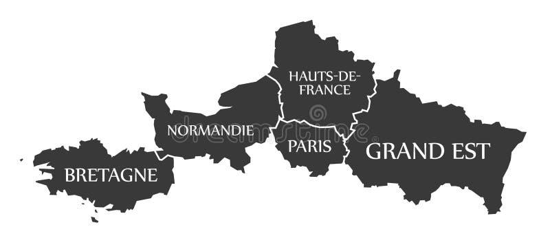 La bretagne normandie paris hauts de france carte - Office tourisme grande bretagne paris ...