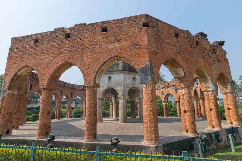 La brique sans toit a construit Rasmancha, Kalna, le Bengale-Occidental, Inde photo libre de droits