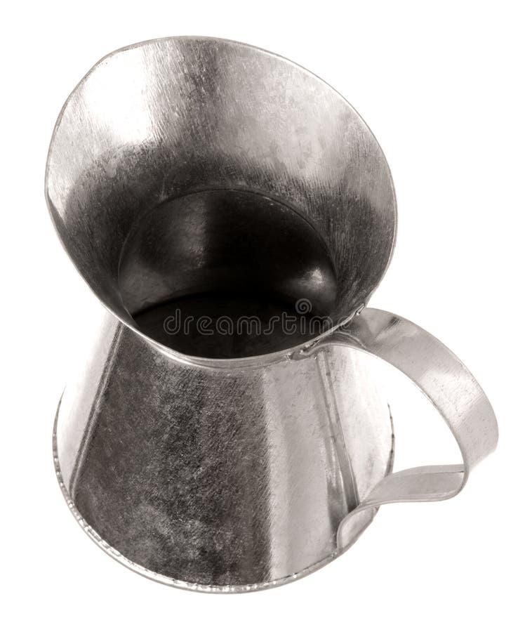 La brocca del metallo ha isolato fotografia stock