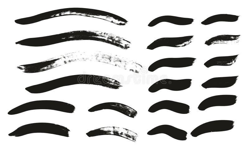 La brocha de la caligrafía curvó líneas arriba detalla el fondo abstracto del vector fijó 120 ilustración del vector