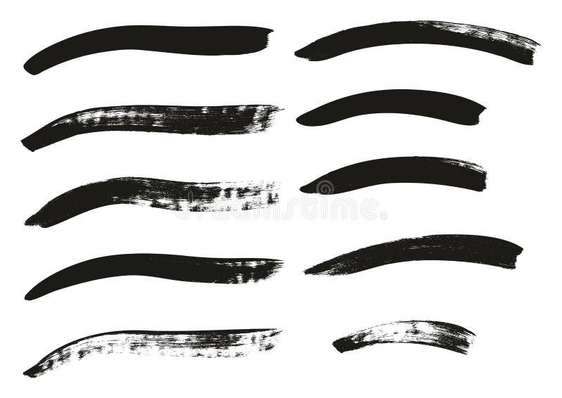 La brocha de la caligrafía curvó líneas arriba detalla el fondo abstracto del vector fijó 99 ilustración del vector