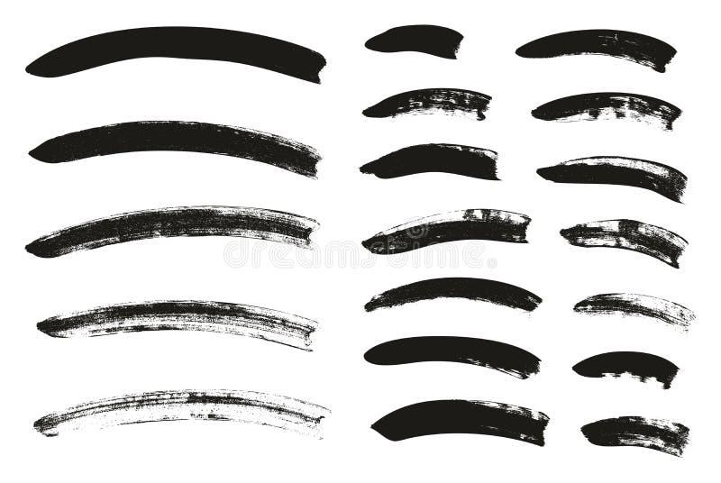 La brocha de la caligrafía curvó líneas arriba detalla el fondo abstracto del vector fijó 92 ilustración del vector