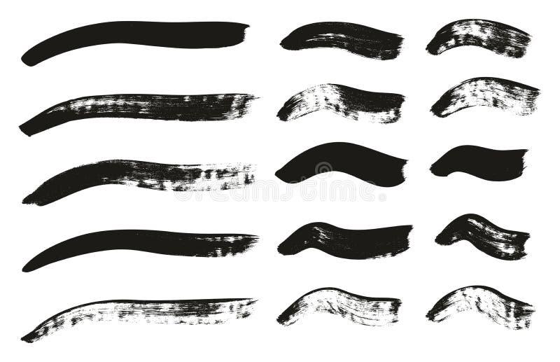 La brocha de la caligrafía curvó líneas arriba detalla el fondo abstracto del vector fijó 65 ilustración del vector