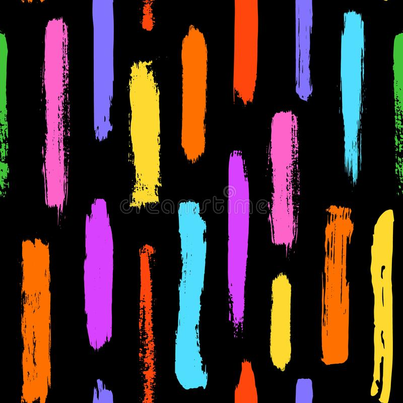 La brocha frota ligeramente el modelo inconsútil de las formas coloridas de las texturas libre illustration
