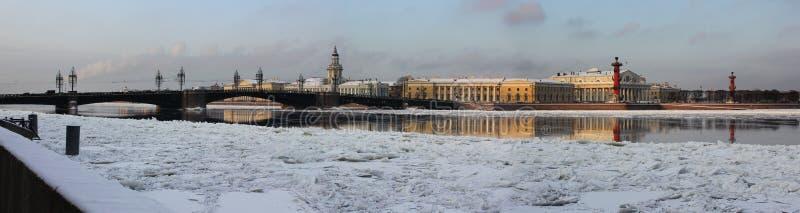 La broche de l'île de Vasilyevsky, St Petersburg, photo libre de droits