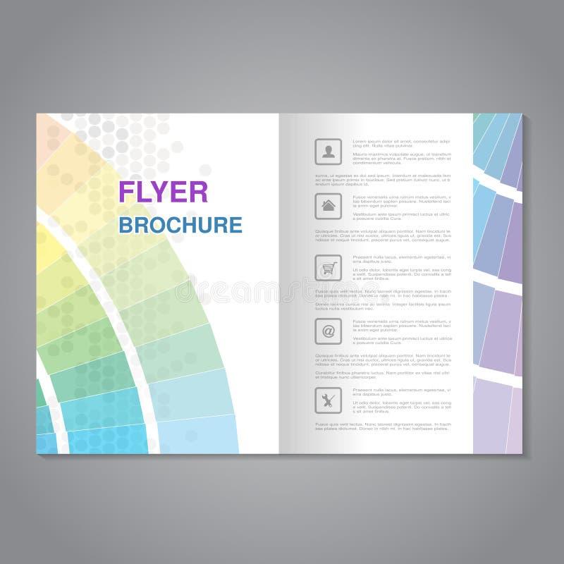 La brochure moderne, l'insecte abstrait avec la conception pointillée simple et la couleur réservent Allongement pour la taille A illustration stock