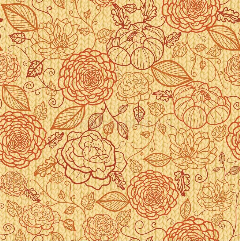 La broderie de Knit fleurit le modèle sans couture illustration de vecteur