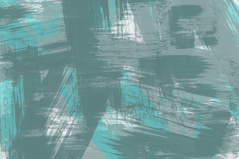 La brosse d'abrégé sur mosaïque frotte le fond de peinture d'art dans diverses couleurs illustration libre de droits