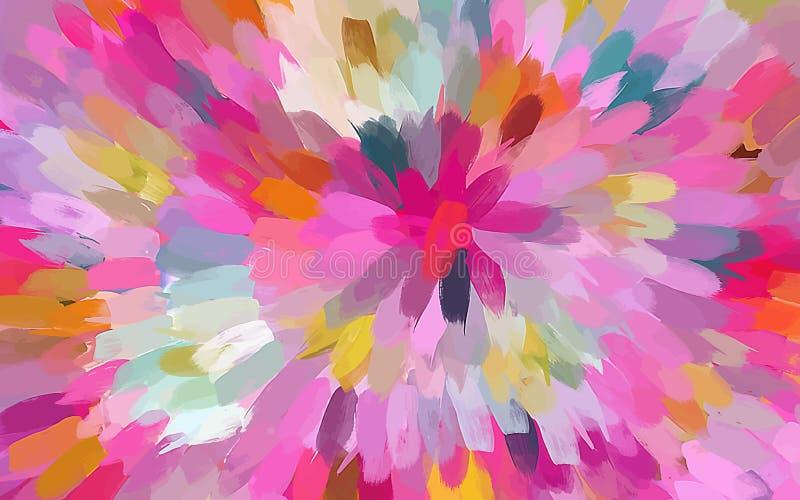 La brosse rose de fleur frotte le fond illustration stock