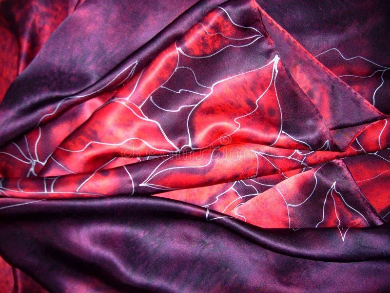 La bufanda de seda Textura de la seda foto de archivo libre de regalías
