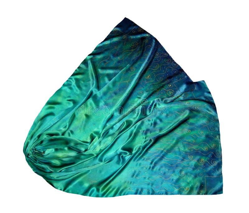 La bufanda de seda Textura de la seda foto de archivo