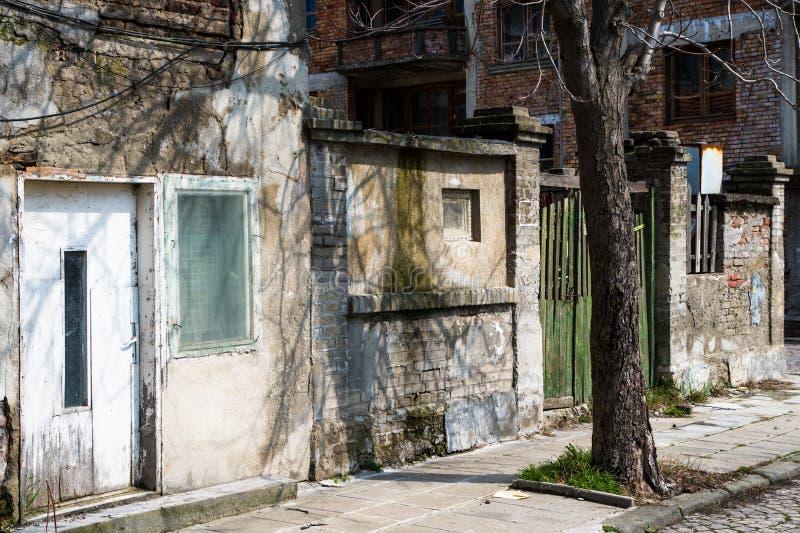La Bulgaria, Pomorie, la vecchia città fotografie stock libere da diritti