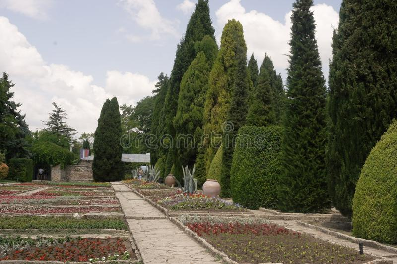 La Bulgarie, jardin botanique dans Balchik photographie stock libre de droits