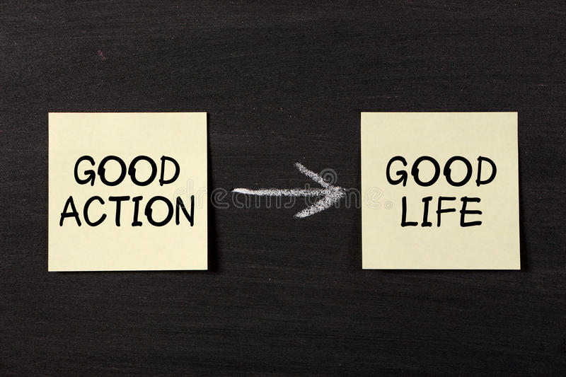 La buona azione risulta buona vita fotografie stock