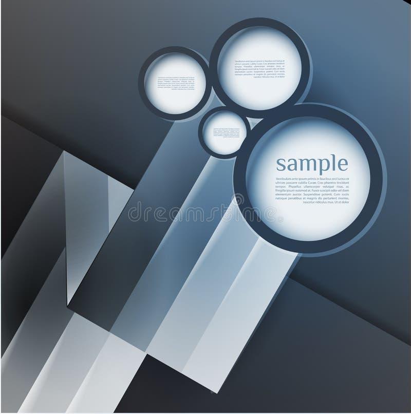 La burbuja abstracta del diseño web, alinea el extracto ilustración del vector