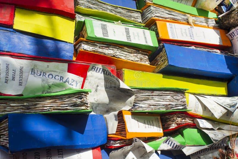 La burocracia en los cargos públicos foto de archivo libre de regalías