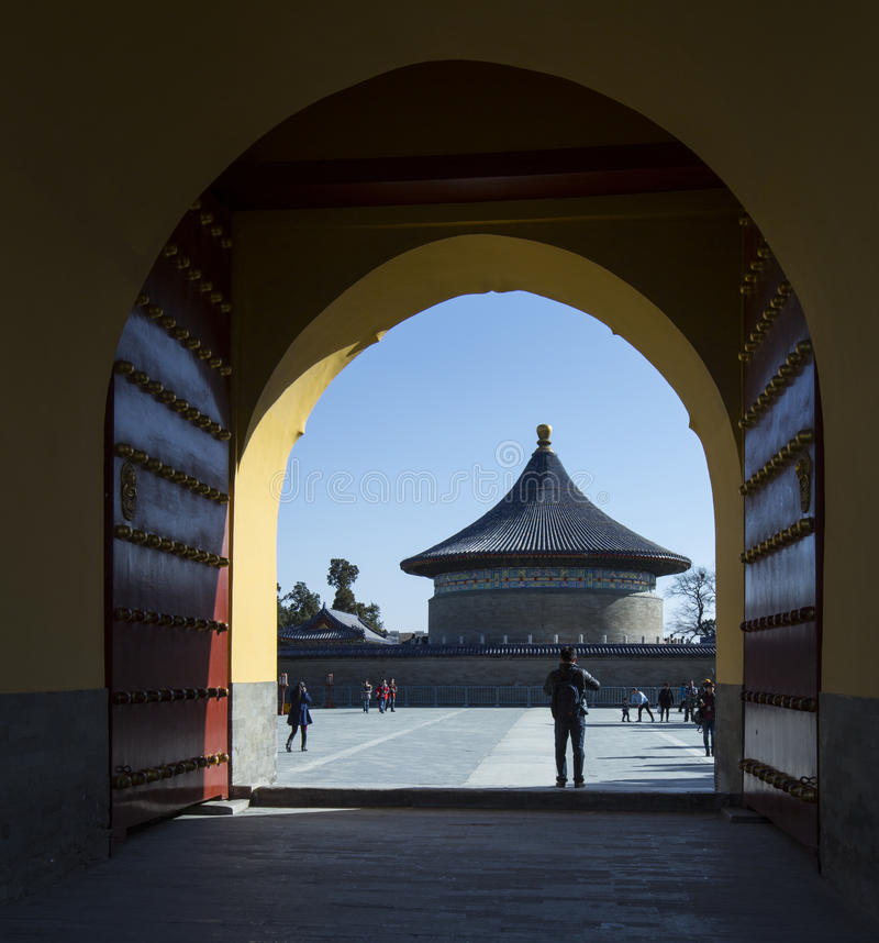 La cámara acorazada del cielo imperial (Pekín) fotos de archivo