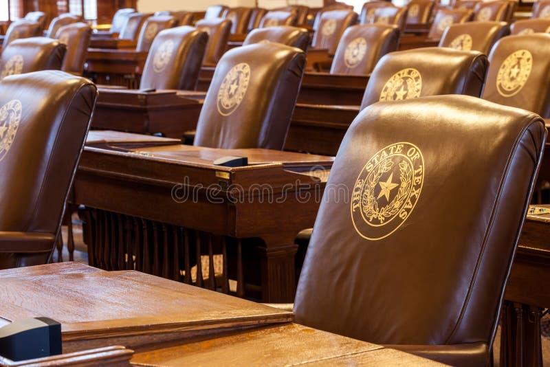 La cámara de cámara de los representantes de Texas State Capitol foto de archivo