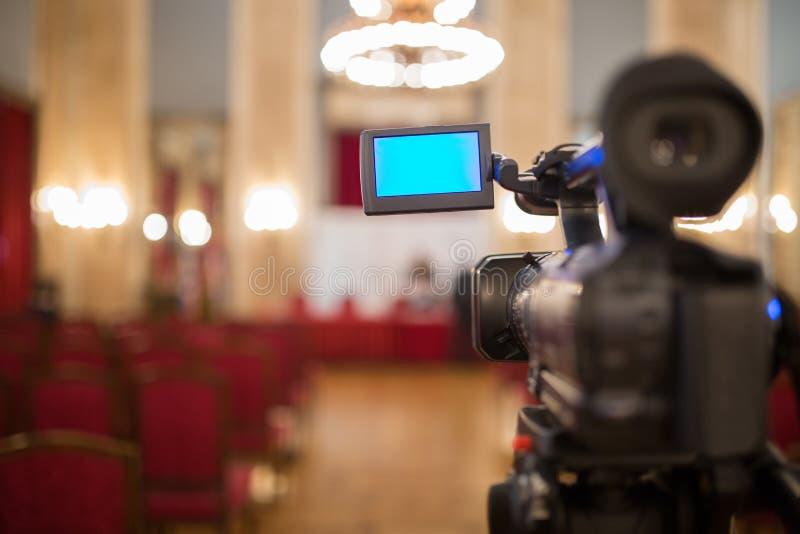 La cámara de vídeo aisló fotos de archivo libres de regalías