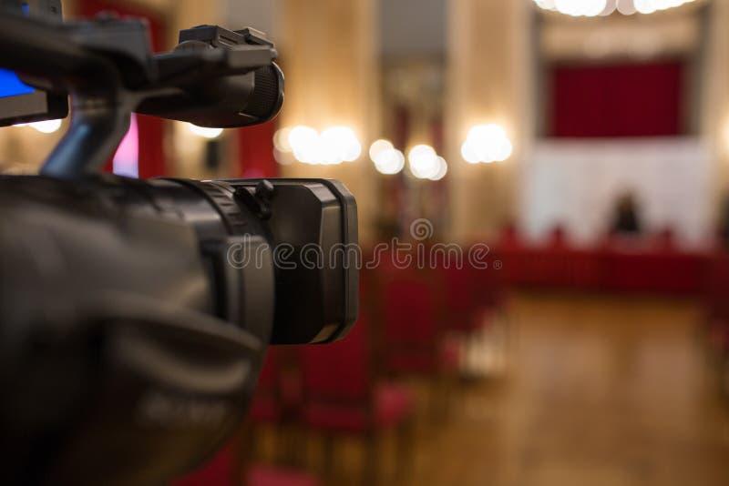 La cámara de vídeo aisló foto de archivo libre de regalías
