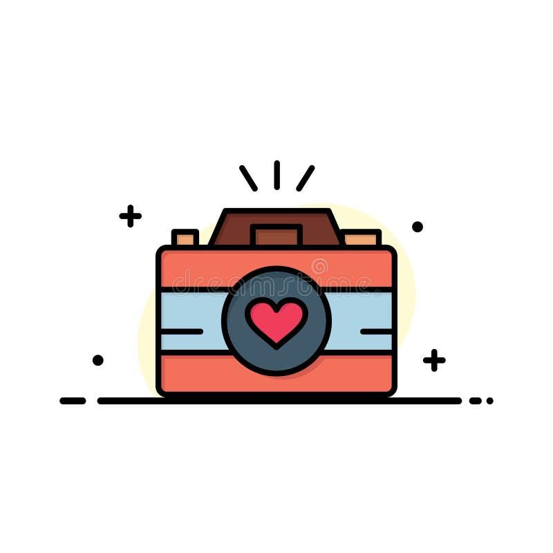 La cámara, leva, videojuego, imágenes, junta el negocio Logo Template de la fotografía color plano stock de ilustración