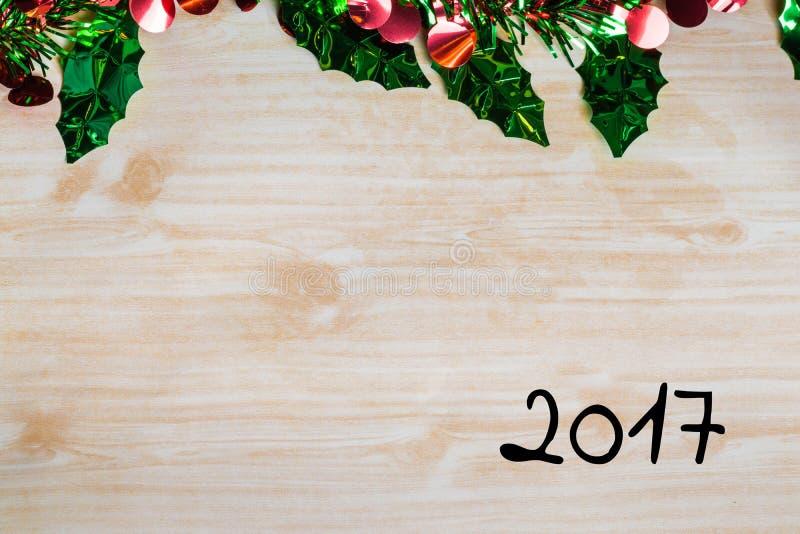 La célébration de Joyeux Noël et de bonne année conçoivent avec des copys photos libres de droits