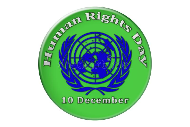 La célébration internationale des droits de l'homme des Nations Unies illustration de vecteur