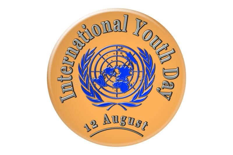 La célébration internationale des Nations Unies, internationale illustration de vecteur